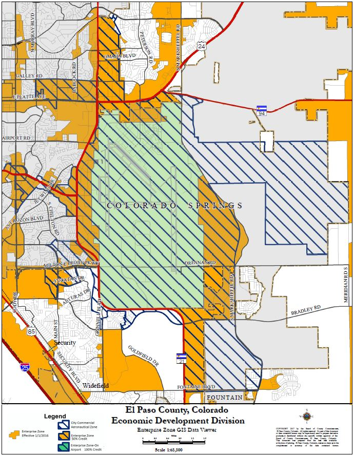 Commercial Aeronautical Zone (CAZ) Map - El Paso County ...