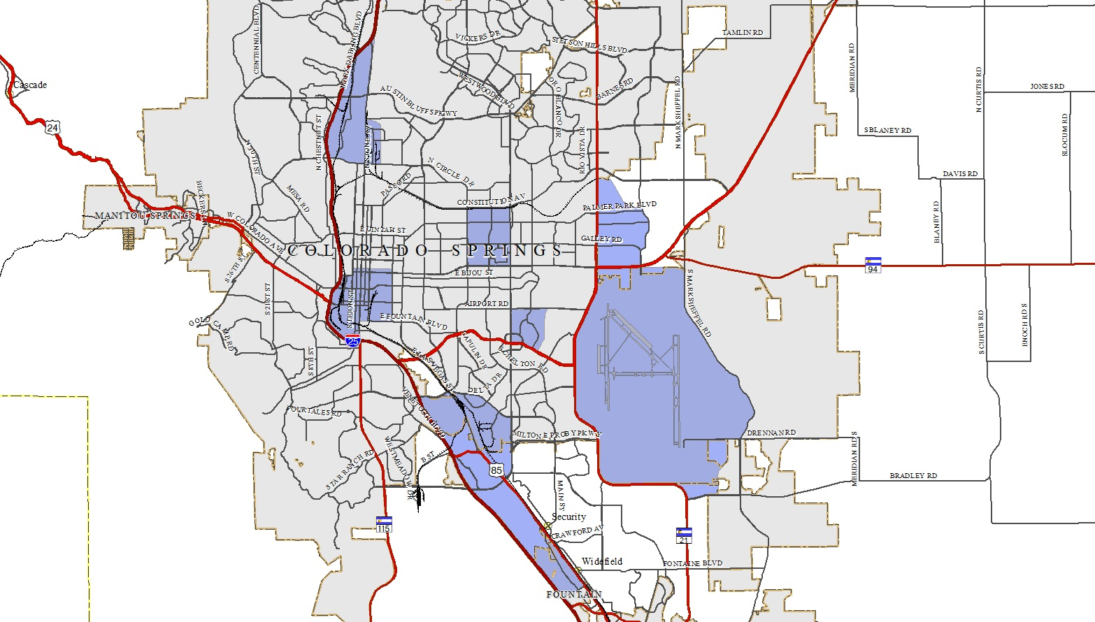Map of Approved Opportunity Zones within El Paso County - El ...